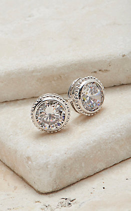 Montana Silvermiths Forever Clear Earrings