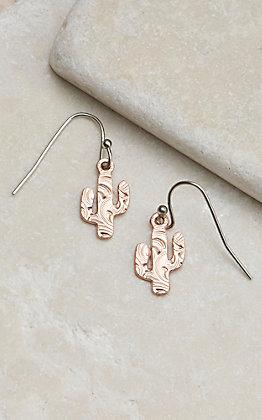 Montana Silversmiths Desert Darling Rose Cactus Earrings
