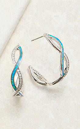 Montana Silvermiths River Lights Twisting Hoop Earrings