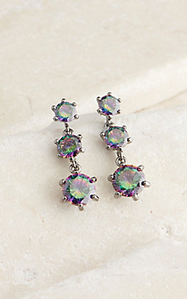 Montana Silversmiths Northern Lights Mystic Topaz Triple Drop Earrings