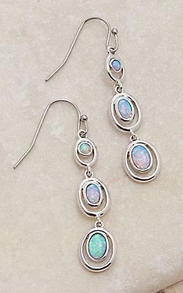 Montana Silversmiths Charmed Opal Trio Dangle Earrings