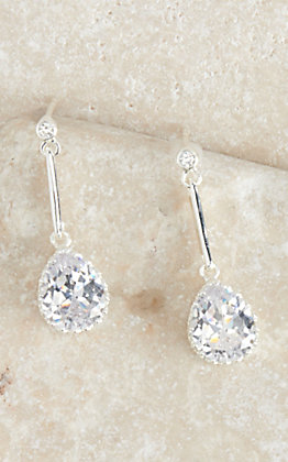Montana Silversmiths Silver Teardrop Trail Dangle Earrings