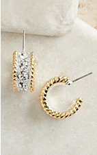 Montana Silversmiths Two-toned Small Hoop Earring