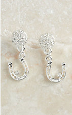 Montana Silversmiths Dangle Horseshoe Earring