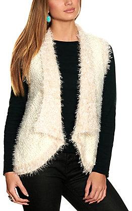 Ethyl Women's Cream Eyelash Vest