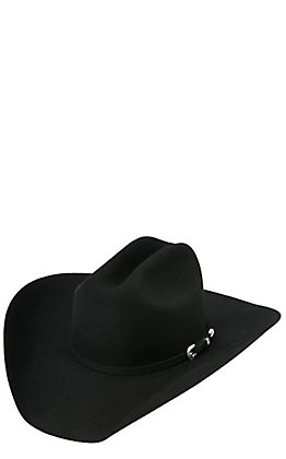 Cavender's 4X Rodeo Collection Cattleman Black Felt Cowboy Hat