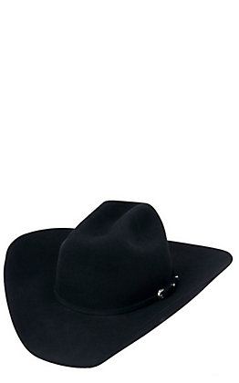 Cavender's 5X Ranch Collection Black Felt Cowboy Hat