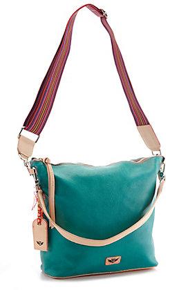 Consuela Frida Guadelupe Turquoise Hobo Bag