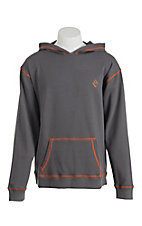 Rock & Roll Men's Charcoal Grey with Orange Contrast Stitching Long Sleeve Flame Resistant Hoodie