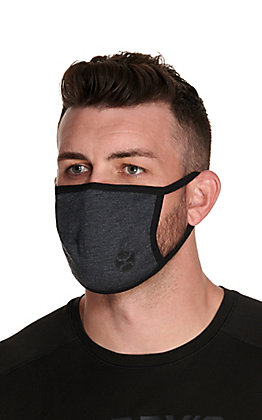 Hooey Charcoal Grey and Black with Black Logo Unisex Facemask