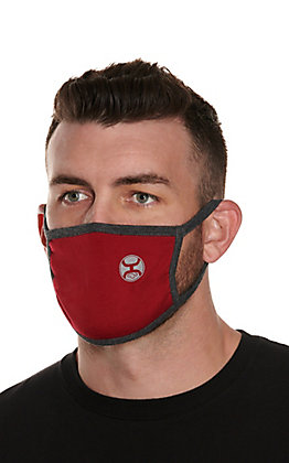Hooey Wine with Charcoal Unisex Cloth Face Mask