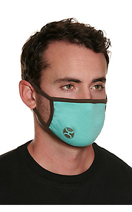 Hooey Turquoise with Brown Unisex Cloth Face Mask