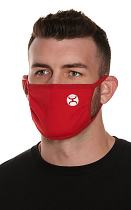 Hooey Red Unisex Cloth Face Mask
