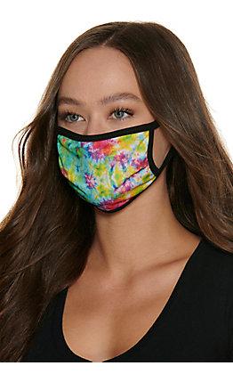 Hooey Tie Dye Cloth Face Mask