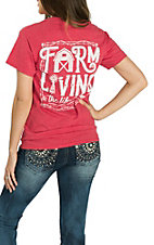Girlie Girl Originals Women's Heather Red Farm Living S/S T-Shirt