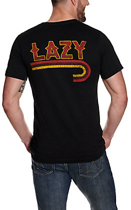 Lazy J Ranch Men's Heather Charcoal Lazy J Graphic Short Sleeve T-Shirt