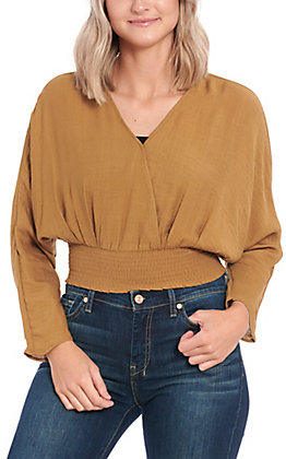 Favlux Fashion Women's Golden Brown Long Sleeve Fashion Top