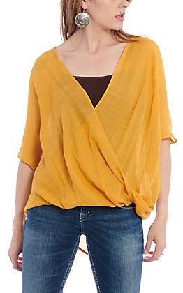 Favlux Fashion Women's Mustard Surplus Fashion Top