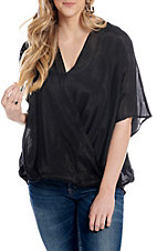 Favlux Fashion Women's Black Solid Open Chest Fashion Top
