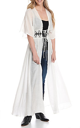 Favlux Fashion White Duster