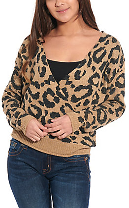 Favlux Fashion Women's Leopard Surplus Sweater