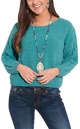Favlux Fashion Women's Blue Long Sleeve Sweater