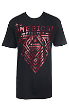 American Fighter Men's Black and Red Mayville Short Sleeve T-Shirt