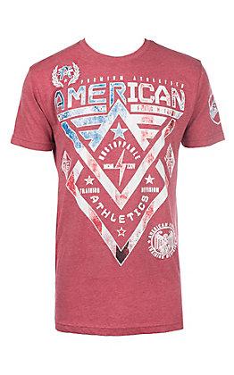 American Fighter Men's Red Alaska Patriot Short Sleeve T-Shirt