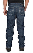 Rock & Roll Cowboy Men's Flame Resistant Double Barrel Straight Medium Wash Jeans