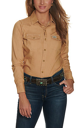 Kimes Ranch Women's Foxy Brown Long Sleeve Western Shirt