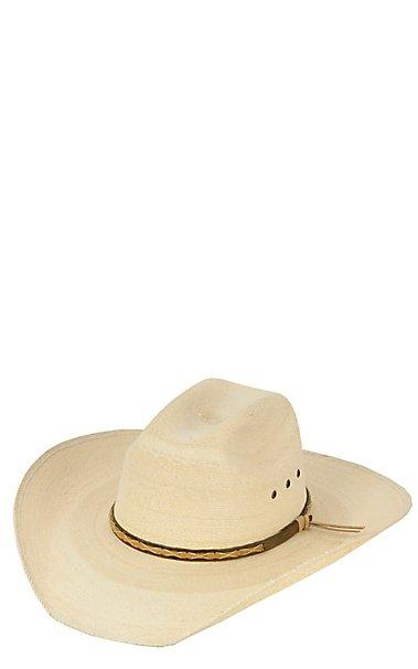 9b936af7bcf Cavenders 20X Ponderosa Palm Brown   Tan Band Cowboy Hat