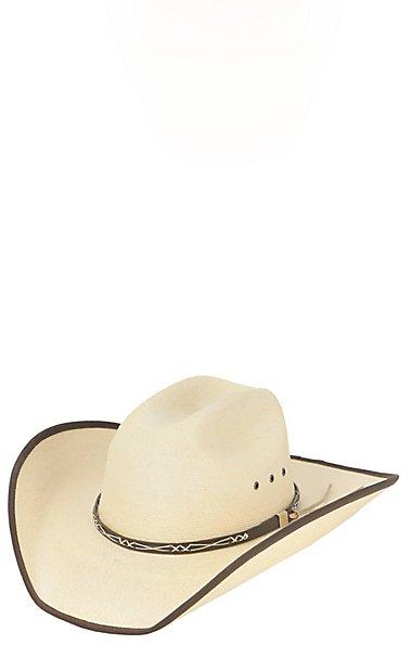 Cavender s 20X Ponderosa Palm Leaf Bound Edge Cowboy Hat  6bd58675e918