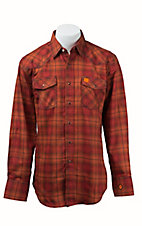 Wrangler 20X Mens Plaid Woven HRC2 FR Light Weight Workshirt FR135OR