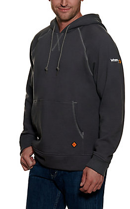 Wrangler Men's Charcoal Grey Long Sleeve FR Pullover Hoodie