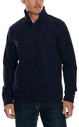 Wrangler Men's Navy 1/4 Zip Pullover FR Jacket