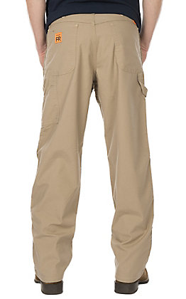 Wrangler Men's Khaki Canvas Advance Comfort FR Carpenter Jean