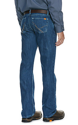 Wrangler 20X Men's FR Medium Wash 42 Vintage Boot Cut Jeans