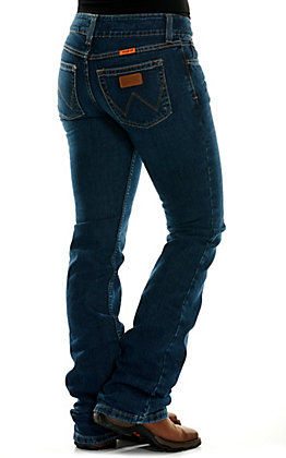 Wrangler Retro Women's Mae Dark Wash Boot Cut FR Jeans
