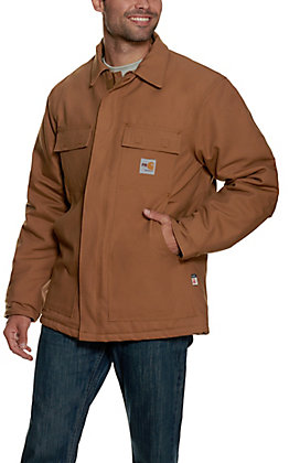 Carhartt Men's FR Brown Duck Traditional Coat