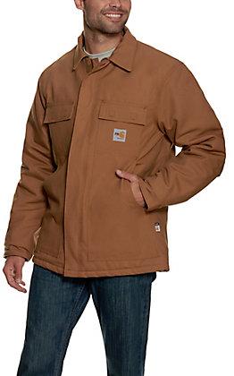 Carhartt Mens FR Brown Duck Traditional Coat