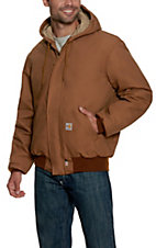 Carhartt Brown Flame Resistant Quilt Lined Active Jacket