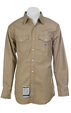 Carhartt FR Khaki Twill Long Sleeve Workshirt