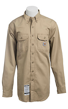 Carhartt Khaki Twill Long Sleeve FR Shirt