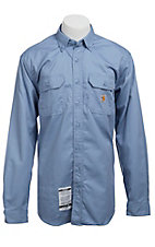 Carhartt Flame Resistant Medium Blue Twill Shirt