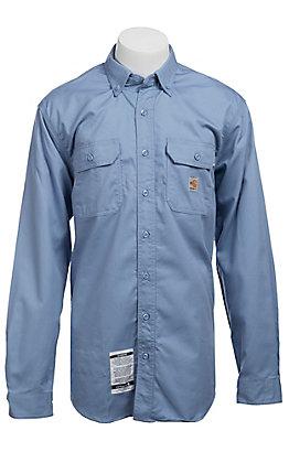 Carhartt FR Medium Blue Twill Shirt