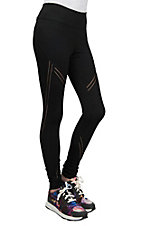Fornia Women's Black Lux Mesh Leggings