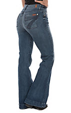 7 For All Mankind DOJO Lake Blue Tailorless Jean