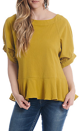 UMGEE Women's Kiwi Puff Sleeve Fashion Top