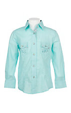 Cowgirl Legend Girls Seafoam L/S Western Shirt