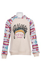 Rock and Roll Girls Headdress Graphic Long Sleeve Hoodie